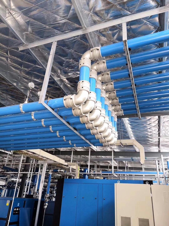 蓝色铝合金管