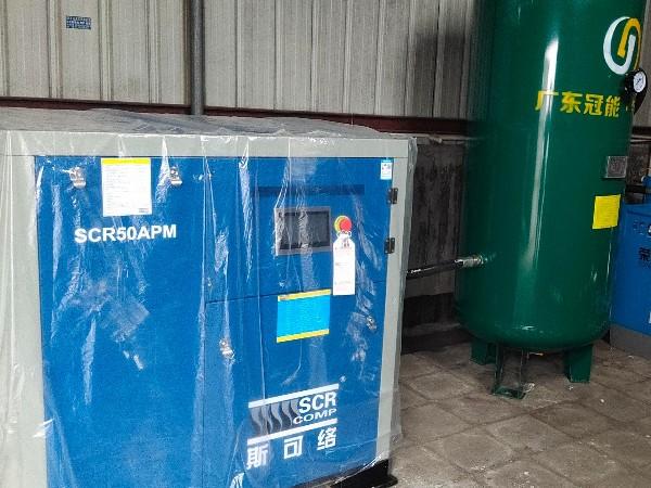 常州某机械公司选用斯可络变频螺杆空压机要求节能稳定