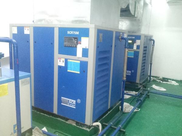 SCR75M空压机应用于东莞某机械制造厂