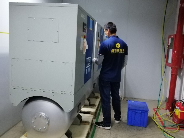 深圳龙华派发百万口罩,无油压缩空气助力企业复工复产