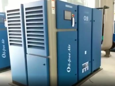 疫情期间,斯可络两台无油螺杆空压机为海南人民医院提供无油压缩空气