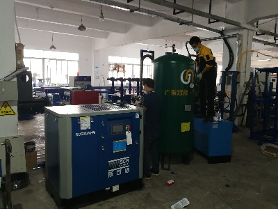现货!斯可络SCR30APM螺杆空压机应用在东莞凯鸿光电科技有限公司
