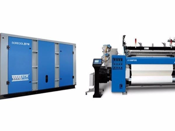 纺织行业都会选择深圳螺杆空压机提供压缩空气!