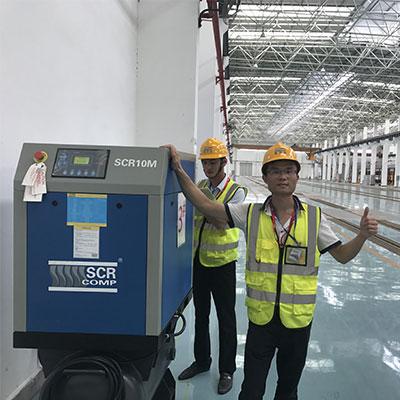 东莞地铁2号线茶山站8台空压机运行4年服务与品质都相当好!廖工_20180924181705