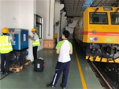 深圳地铁6号线再次选择了斯可络空压机