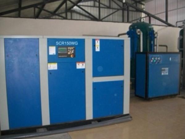 干式无油空压机应用于东莞某纺织厂