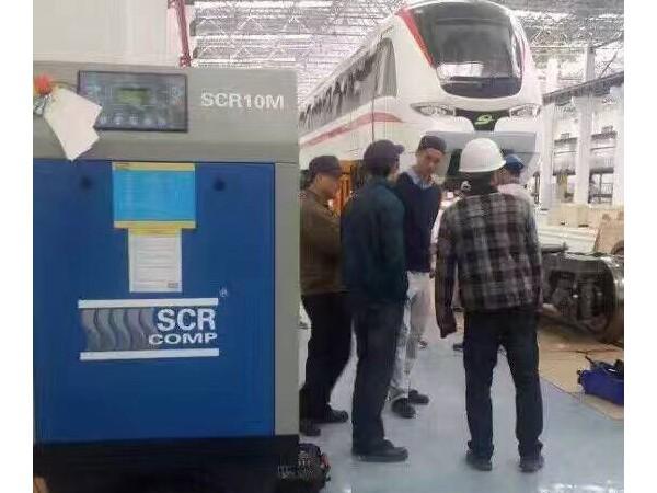 一台SCR10M皮带螺杆空压机应用于地铁案例
