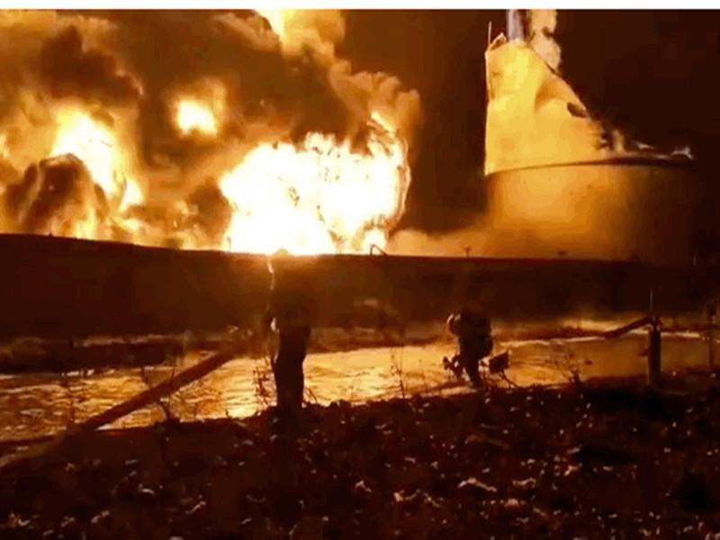盐城化工爆 炸灭火图