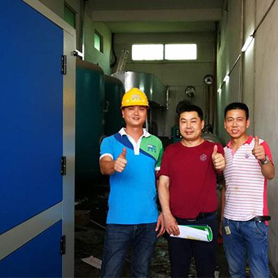 汕头新华城织造公司欧阳老板省电40%相当满意