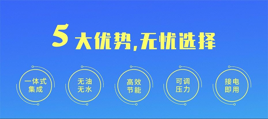 一体式永磁变频螺杆空压机五大优势