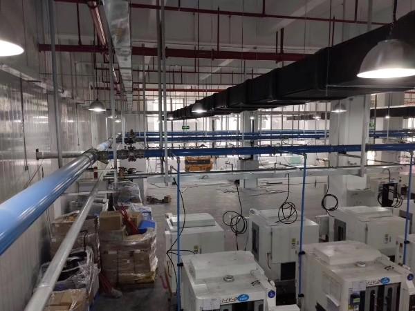 压缩空气节能管道应用在1000台加工中心,助力某畅销手机品牌铝壳生产