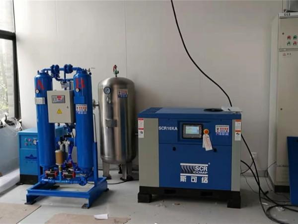 无油涡旋空压机SCR10AX东莞某实验室的案例
