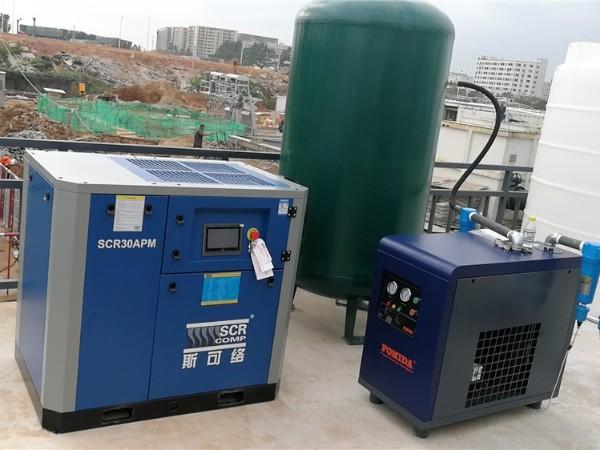 SCR30APM空压机应用在深圳某电子厂案例