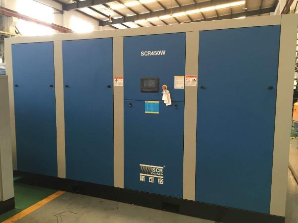 SCR450W直联螺杆空压机应用于惠州某纺织制作厂