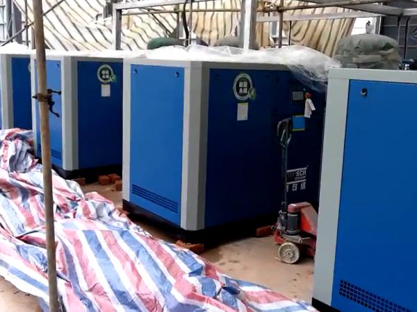 超能永磁变频空压机应用于广东某建筑公司