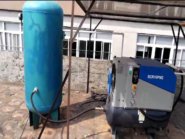 SCR10PM2永磁变频空压机应用在深圳某手机贴膜厂