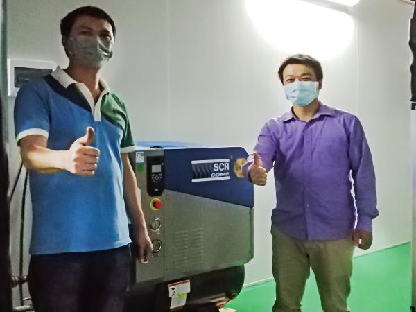 一体式永磁变频空压机助力广州富瑞健康科技有限公司解决口罩生产需求