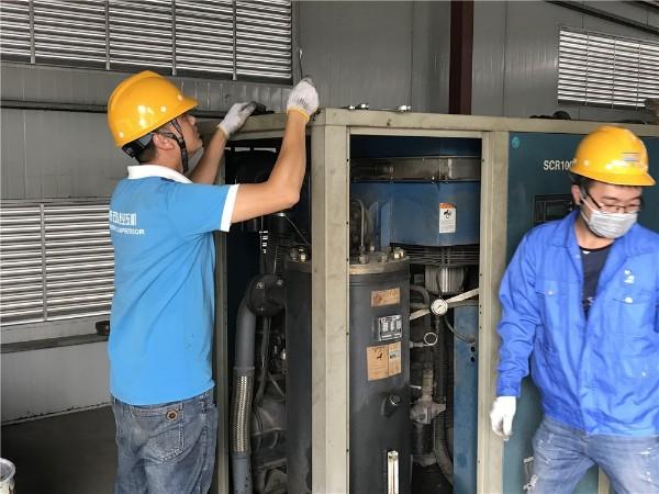 一台两级压缩螺杆空压机.应用在深圳某造纸厂