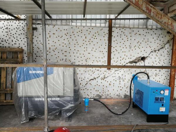 疫情期间永磁变频螺杆空压机助力深圳市普林达科技有限公司生产