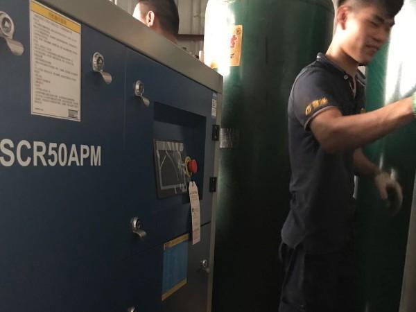 斯可络永磁变频空压机应用在模具厂