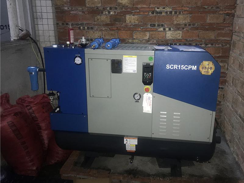 SCR15CPM空压机应用于深圳某五金店案例