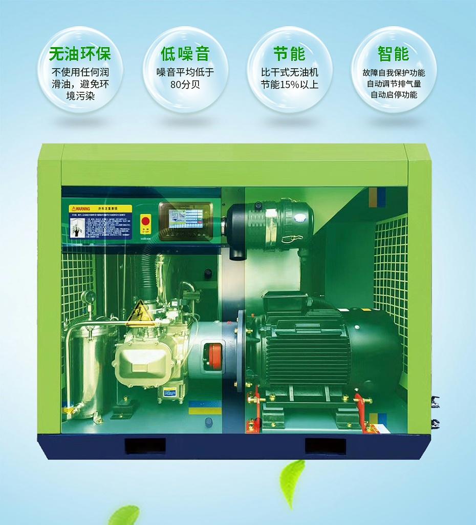 熔喷布专用无油水润滑空压机