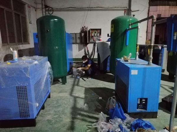 深圳皮带螺杆空压机助力广东爱立特集团生产口罩