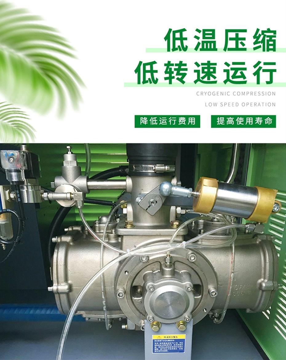 无油水润滑空压机成本低,寿命长