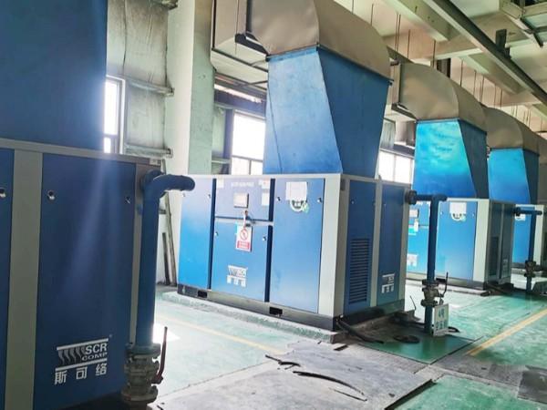 节能空压机厂家中标山西某光伏玻璃企业项目
