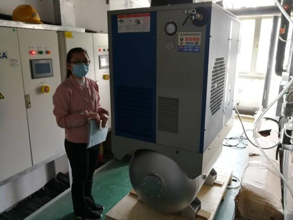 斯可络一体式永磁变频空压机助力广州达瑞生殖技术有限公司口罩生产