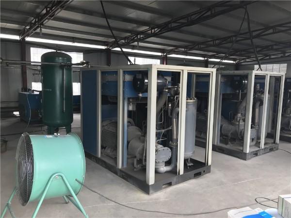 三台直联大型螺杆机应用于东莞某纺织厂