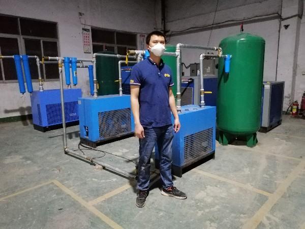 斯可络螺杆空压机再次助力深圳氢时代健康科技有限公司复工生产口罩